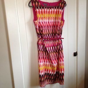 Roz And Ali graphic pattern belted dress Size 14W